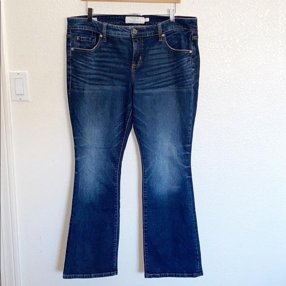 Torrid Darker Wash Slim Boot 14 Short Jeans